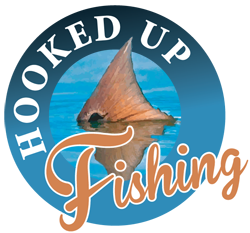 Hooked Up Fishing Logo