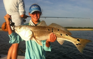 Hooked Up Fishing Charters guided redfish tour